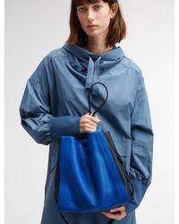 DKNY - Blue Medium Greenwich Smooth Calf Leather Colorblock Shoulder Bag - Lyst