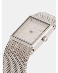DKNY - Metallic Stonewall Mesh 25mm Stainless Steel Watch - Lyst