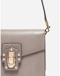 Dolce & Gabbana - Gray Leather Lucia Shoulder Bag - Lyst