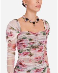 Dolce & Gabbana - Metallic Earrings With Decorative Elements - Lyst