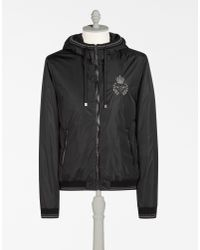 Dolce & Gabbana - Black Nylon Jacket With Embroidery for Men - Lyst