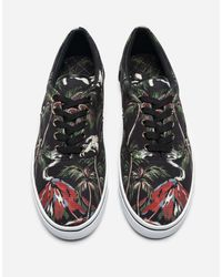 Dolce & Gabbana - Black Sneakers In Printed Canvas - Lyst