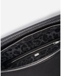 Dolce & Gabbana - Black Messenger Bag In Canvas for Men - Lyst
