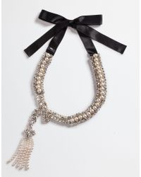 Dolce & Gabbana | Multicolor Necklace With Pearl Jeweled Appliqués | Lyst