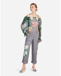 Dolce & Gabbana - Gray Overall In Mix Of Material - Lyst