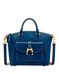 Dooney & Bourke Blue Emerson Naomi Satchel