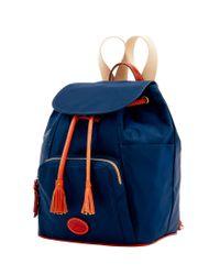 Dooney & Bourke - Blue Nylon Backpack - Lyst