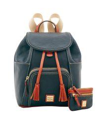 Dooney & Bourke - Black Pebble Grain Medium Backpack Small Coin Case - Lyst