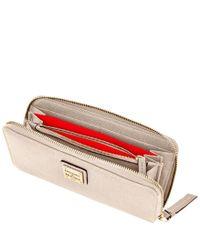 Dooney & Bourke - Multicolor Saffiano Large Zip Around Wallet - Lyst