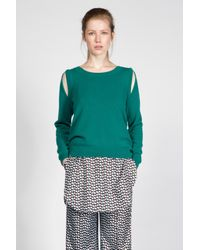 Dorothee Schumacher | Green Drape And Dream Pullover 1/1 | Lyst