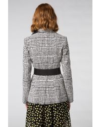 Dorothee Schumacher - Multicolor Offbeat Check Jacket Sleeve 1/1 - Lyst