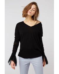 Dorothee Schumacher - Black Sensitive Transparency T-shirt 1/1 - Lyst