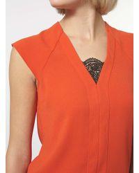 Dorothy Perkins - Black Orange Double Layer Top - Lyst