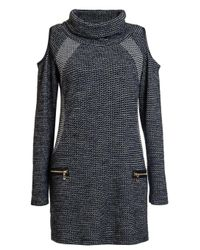 Dorothy Perkins - Gray Quiz Grey Cold Shoulder Shift Dress - Lyst