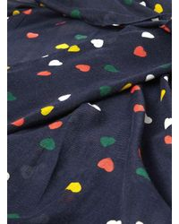 Dorothy Perkins - Blue Navy Multi Heart Print Snood - Lyst