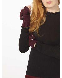Dorothy Perkins - Red Wine Fingerless Gloves - Lyst