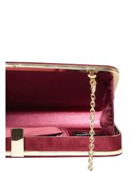Dorothy Perkins - Red Berry Faux Suede Box Clutch - Lyst