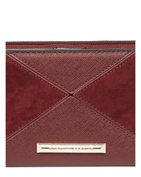 Dorothy Perkins - Red Berry Panel Zip Around Purse - Lyst