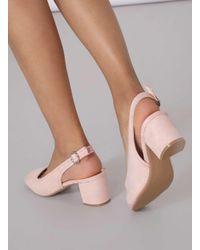 Dorothy Perkins Pink Blush 'gabbie' Slingback Court Shoes