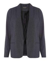 Dorothy Perkins - Blue Navy Textured Jacket - Lyst