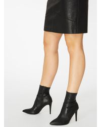 Dorothy Perkins - Black 'ally' Sock Boots - Lyst
