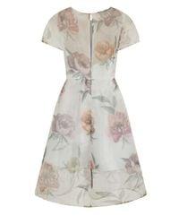 Dorothy Perkins | Chi Chi London White Floral Midi Dress | Lyst