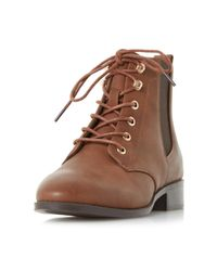 Dorothy Perkins - Brown Head Over Heels By Dune Tan Peggie Ankle Boots - Lyst