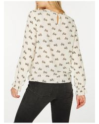 Dorothy Perkins - White Cream Bike Print Yoke Detail Blouse - Lyst