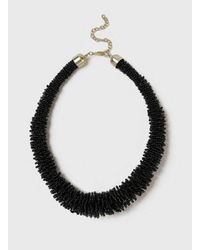 Dorothy Perkins - Black Beaded Necklace - Lyst