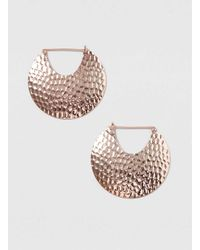 Dorothy Perkins - Pink Large Rose Gold Texture Hoop Earrings - Lyst