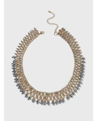 Dorothy Perkins - Metallic Facet And Seed Bead Necklace - Lyst