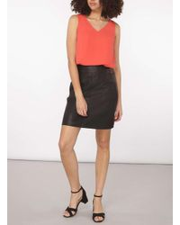 Dorothy Perkins - Pink Tall Coral Top - Lyst