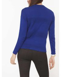 Dorothy Perkins - Blue Cobalt Rib Panel Jumper - Lyst