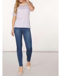 Dorothy Perkins - Purple Lilac Dobby Ruffle Blouse - Lyst