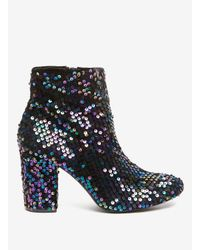 Dorothy Perkins - Blue Multi Coloured 'aries' Sequin Embellished Ankle Boots - Lyst