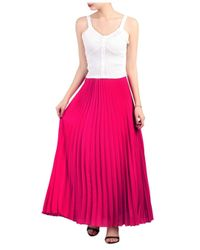 ef461f2266 Dorothy Perkins Jolie Moi Magenta Pleated Maxi Skirt in Pink - Lyst