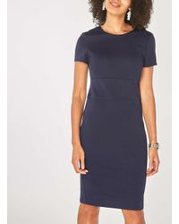 Dorothy Perkins - Blue Navy Wide Waistband Pencil Dress - Lyst