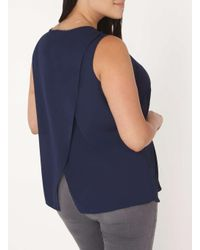Dorothy Perkins - Blue Dp Curve Navy Wrap Back Top With Necklace - Lyst