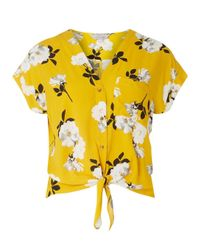 Dorothy Perkins Orange Petite Ochre Floral Shirt