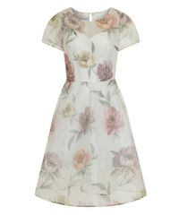 Dorothy Perkins - Chi Chi London White Floral Midi Dress - Lyst