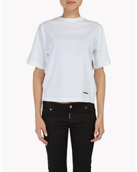 DSquared² | White Cotton T-shirt | Lyst