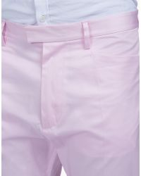 DSquared² - Pink Cotton Chinos for Men - Lyst