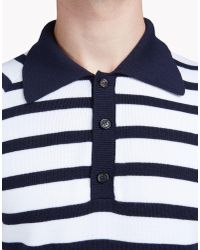 DSquared² - Black Striped Wool Polo Shirt for Men - Lyst
