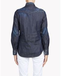 DSquared² | Blue 'western' Shirt | Lyst