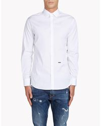 DSquared² | White Poplin Mb Shirt for Men | Lyst