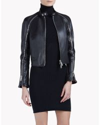 DSquared² | Black Lone Star Leather Jacket | Lyst