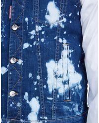 DSquared² | Blue Bleached Denim Vest for Men | Lyst