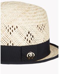 DSquared² - Natural Straw Hat - Lyst