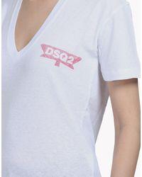 DSquared² - White Short Sleeve T-shirt - Lyst