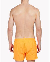 DSquared² - Orange D2 Swim Shorts for Men - Lyst